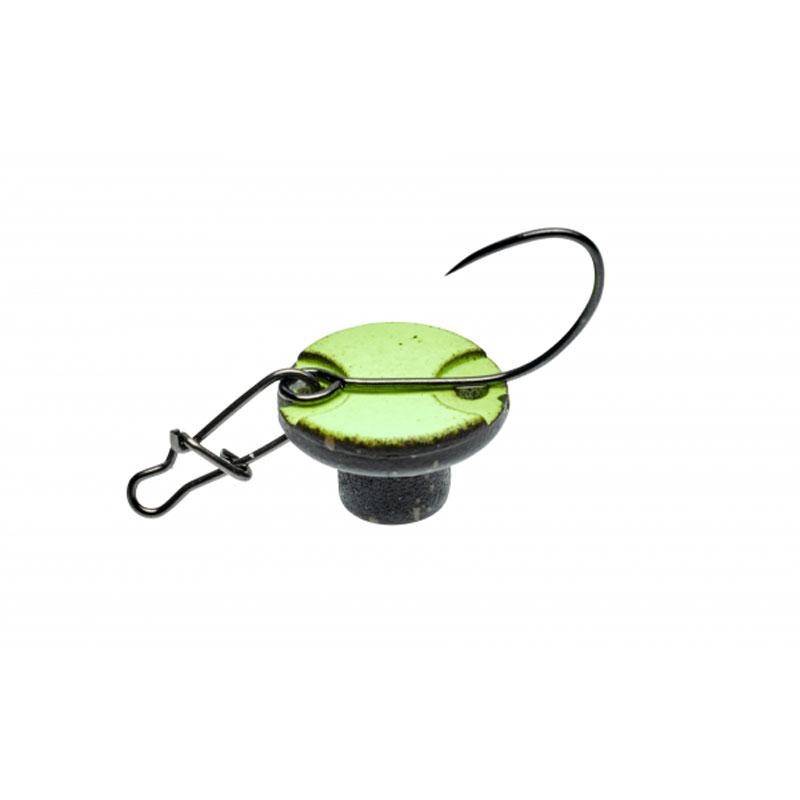 Illex Bung Spoon 0,6 g. White / Glow-1