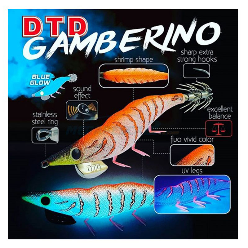 DTD Gamberino Squid Jig EGI 3.0 Red-1