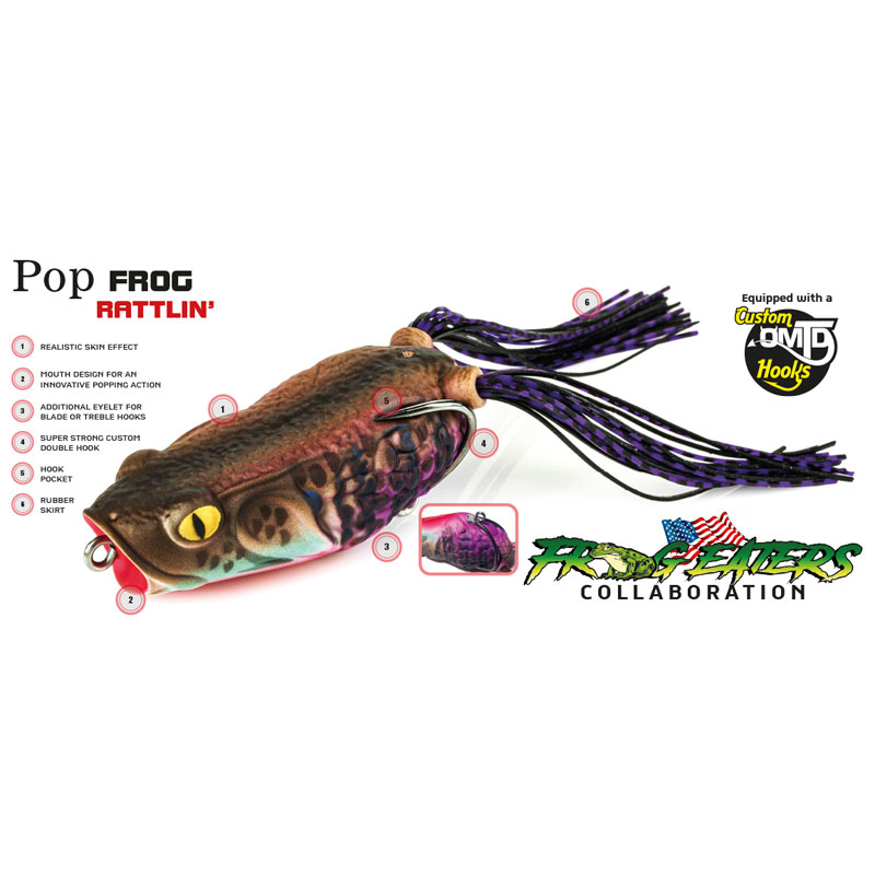 Molix Pop Frog Rattlin' Black Mamba-1