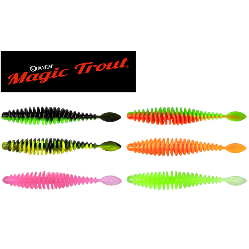 Magic Trout T-Worm P-Tail 65 Chilli-Cheese Neon Pink-1