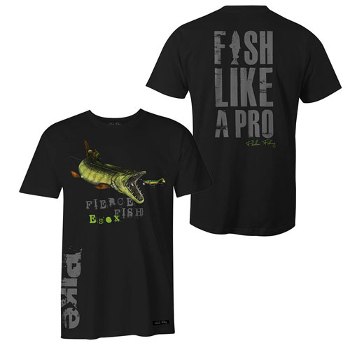 Fladen T-Shirt Hungry Pike Black Size M-1