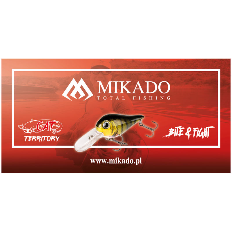 Mikado Wobbler Cat Territory Donkey Crankbait - Red Head-1