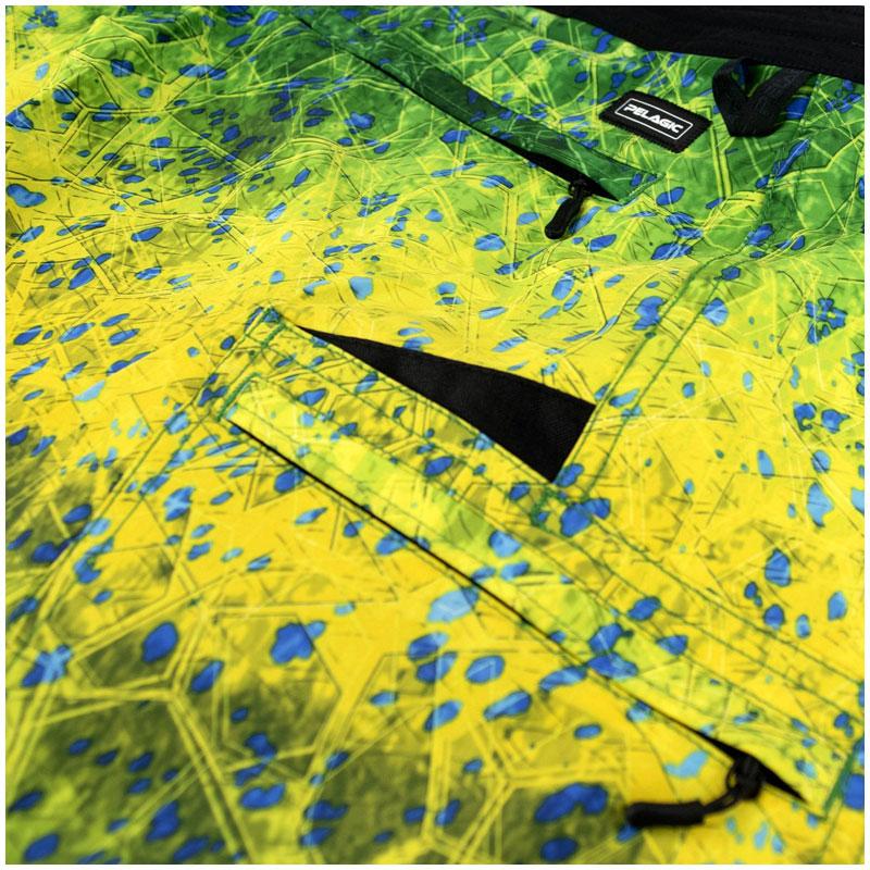 Pelagic Blue Water Fishing Shorts Green Dorado Hex  Size 32-4