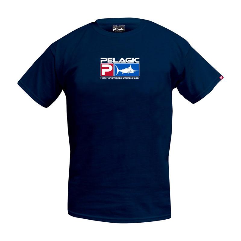 Pelagic Deluxe Logo Tee Navy Size XL-1