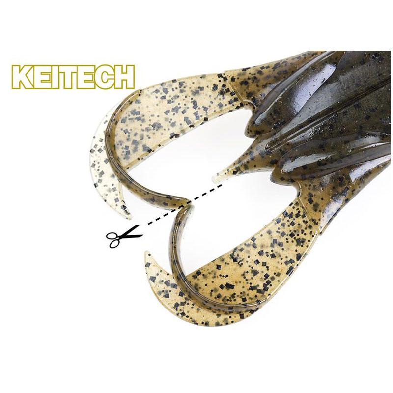 Keitech Noisy Flapper 3.5 Green Pumpkin Chartreuse-2
