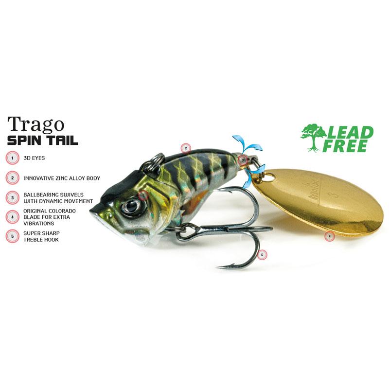 Molix Trago Spin Tail 3/4 Oz Blue Back Tiger-1