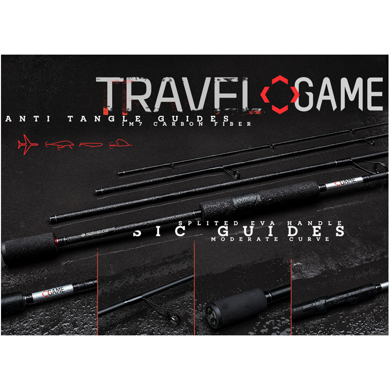 Game All Round Travel Spinning Rod 80S-H 10-40 gr.-1