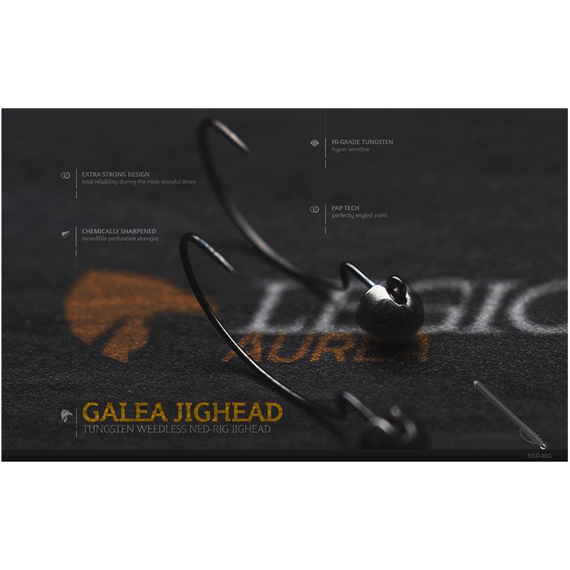 Legio Aurea Argentum Galea Tungsten Jighead 1/10 Oz Hook #2/0 -1