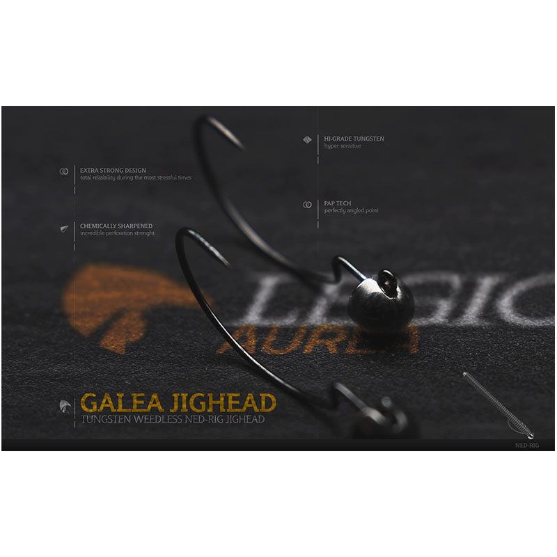 Legio Aurea Argentum Galea Tungsten Jighead 1/10 Oz Hook #3/0 -1