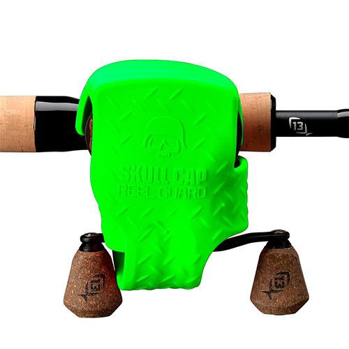 13 Fishing Skull Cap Reel Guard Green
