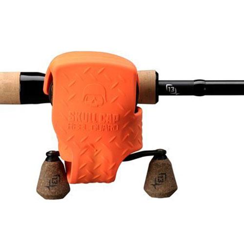 13 Fishing Skull Cap Reel Guard Orange