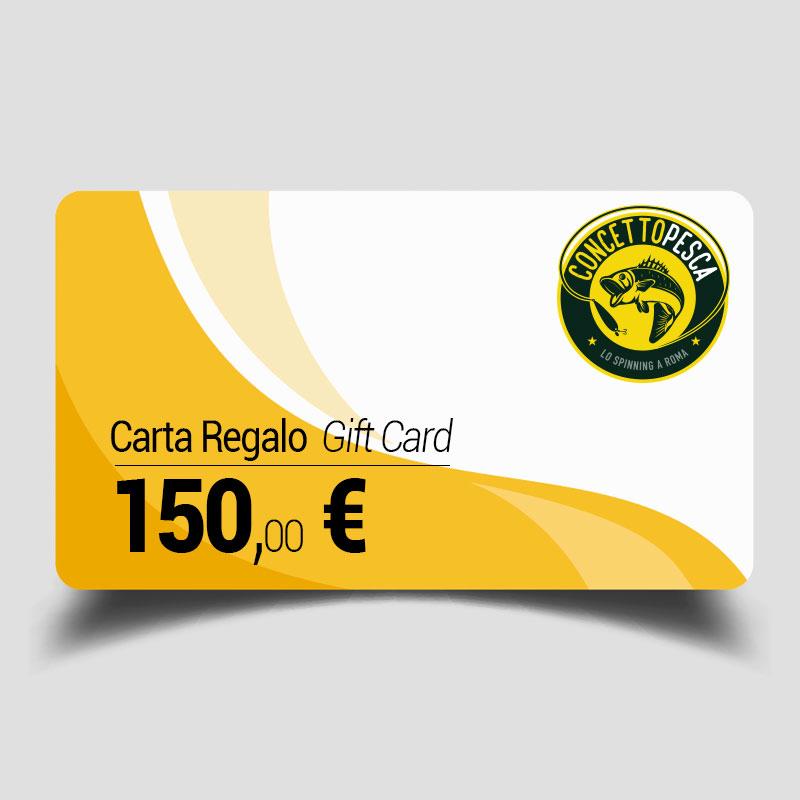 Carta regalo da 150 euro