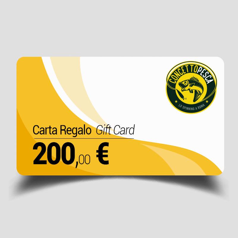 Carta regalo da 200 euro