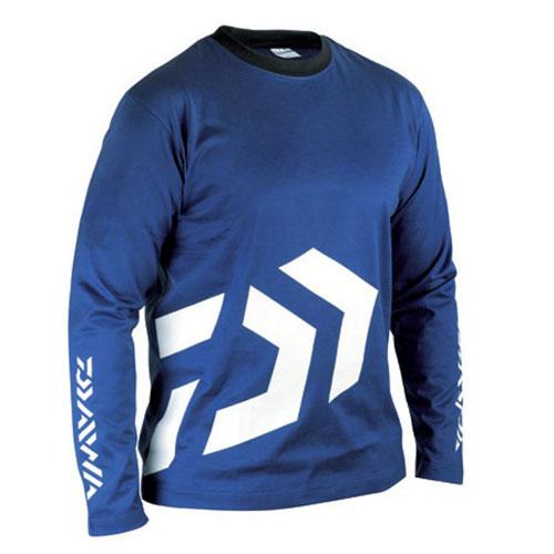 Daiwa T-Shirt Spit Maniche Lunghe Blu XL