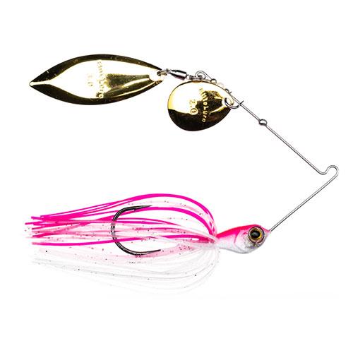 Elite Lure CFS Spinnerbait Tandem Willow Colorado 1/2 oz Pink Pearl