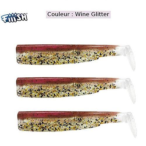 Fiiish Black Minnow 120 n 3 Corps Wine Glitter