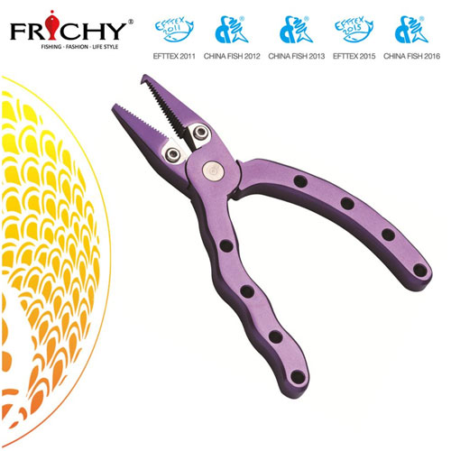 Frichy Aluminium Fishing Pliers Mini Ergo  X18 Purple