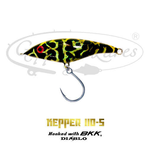 Geppetto Lures Kepper 110-S Black Spectral