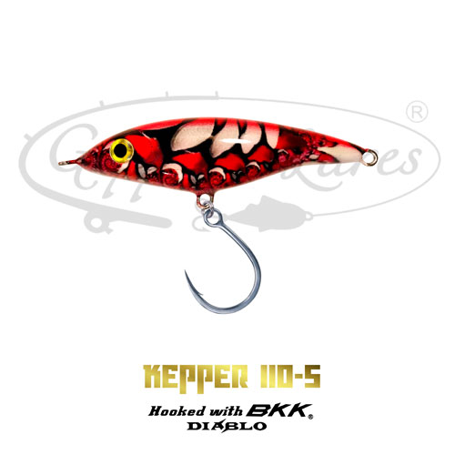 Geppetto Lures Kepper 110-S Red Spine