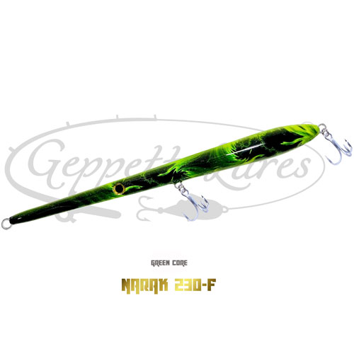 Geppetto Lures Narak 230-F Green Core