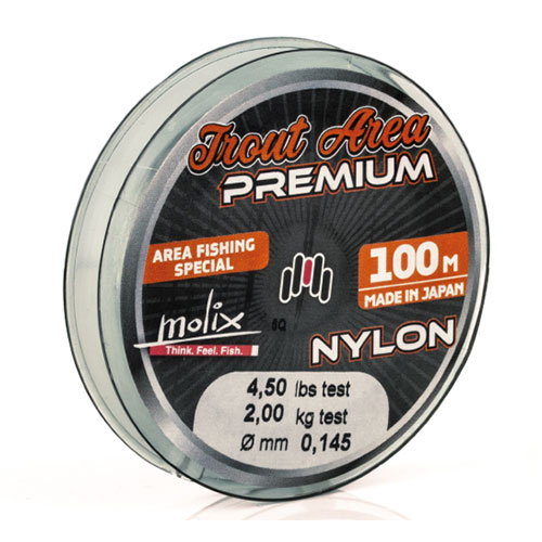 Molix Trout Area Premium Nylon 3,5 lb (0,128 mm)