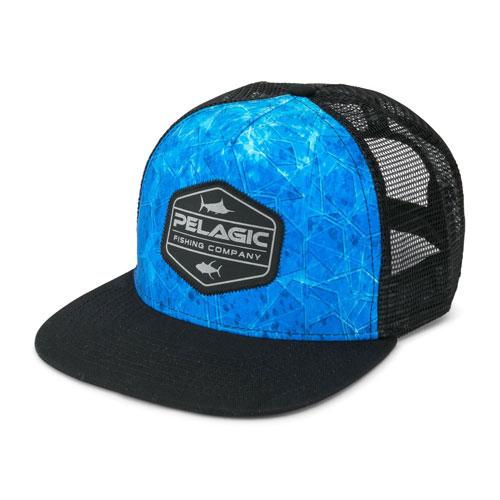Pelagic Alpha Dorado Hex Snapback Blu