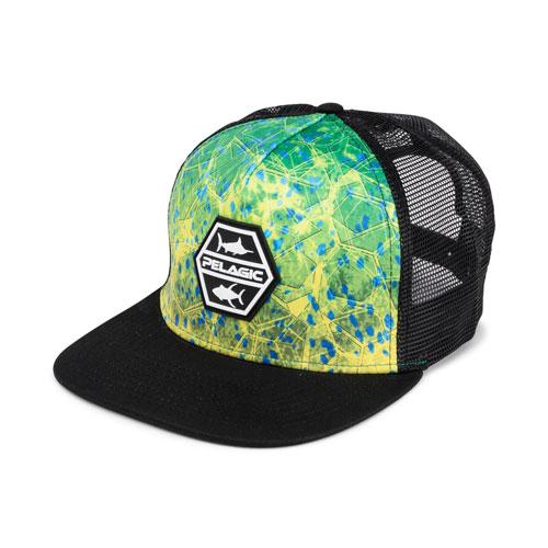 Pelagic Alpha Dorado Hex Snapback Green