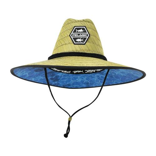 Pelagic Baja Straw Hat Dorado Hex Blue