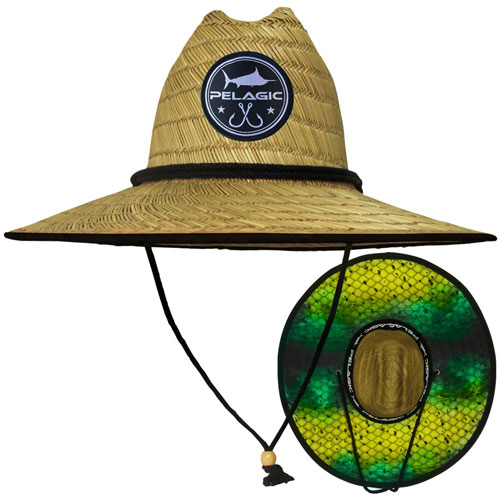 Pelagic Baja Straw Hat Dorado Hex Green