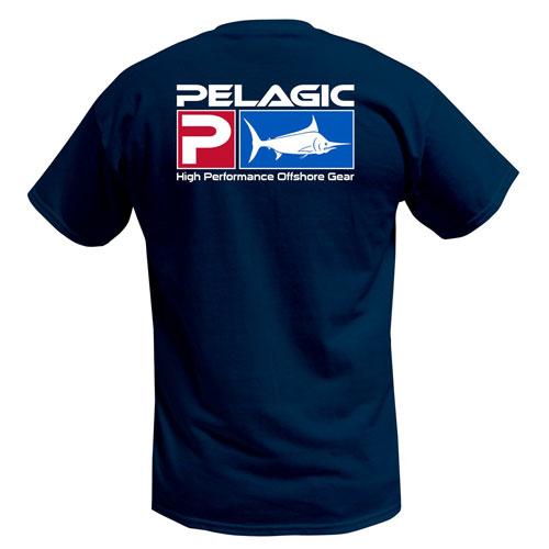 Pelagic Deluxe Logo Tee Navy Size XL