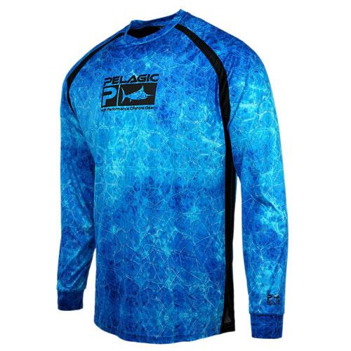 Pelagic Vaportek Long Sleeve Performance Shirt Blu Dorado Hex  Size L