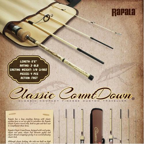 Rapala Classic CountDown Travel Rod 1/8 - 3/8  Oz