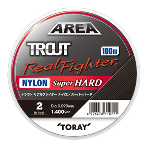 Toray Area Trout Real Fighter Nylon Super Hard 3 Lb