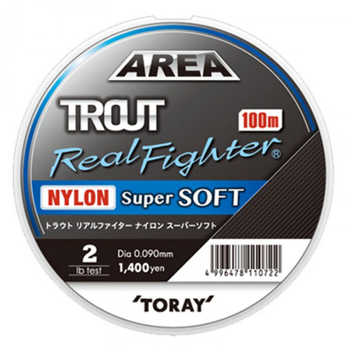 Toray Area Trout Real Fighter Nylon Super Soft 3 Lb