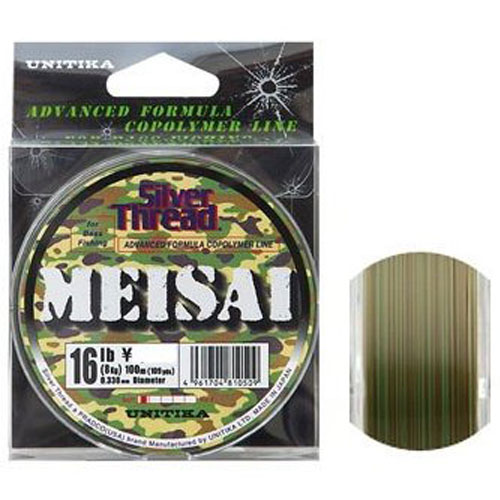 Unitika Silver Thread MEISAI Copolymer Line for Bass Fishing Nylon 14 lb