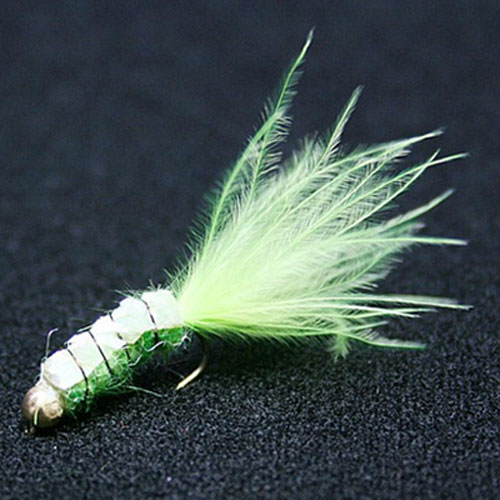 Vanfook Leech Spin Fly 0,8 gr Size #10 Chartreuse