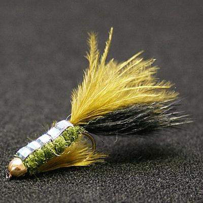 Vanfook Leech Spin Fly 1,2 gr Size #8 Olive Black