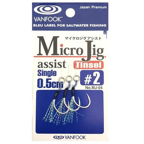 Vanfook Micro Jig Tinsel Assist Single 0,5 cm Size #3